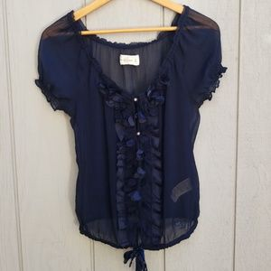 Abercrombie and Fitch sheer floral blouse